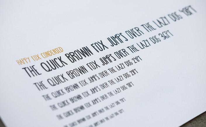 Papierdirekt Free Font Freitag Happy Fox Condensed von Laura Caldentey