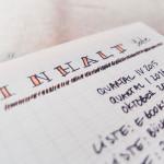 Papierdirekt Papiermeister Notizbuch trifft auf das System Bulletjournal. blog.papierdirekt.de