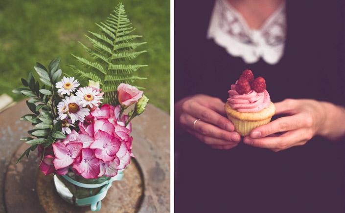 DIY-Hochzeit mit Boho-Elementen. Wie aus Eigenheiten etwas Besonderes wird. Neu im Papier Direkt Blog unter blog.papierdirekt.de Cupcake und Blumen. copyright: Thomas Epping