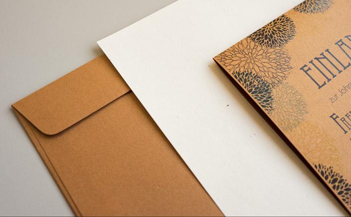 Papier Direkt Blog blog.papierdirekt.de /// Metallics gebürstet /// kombiniert mit Flora Creme