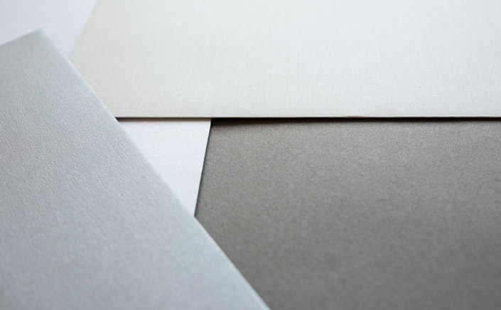 Papier Direkt Blog blog.papierdirekt.de /// Metallics gebürstet /// Farbübersicht Grautöne