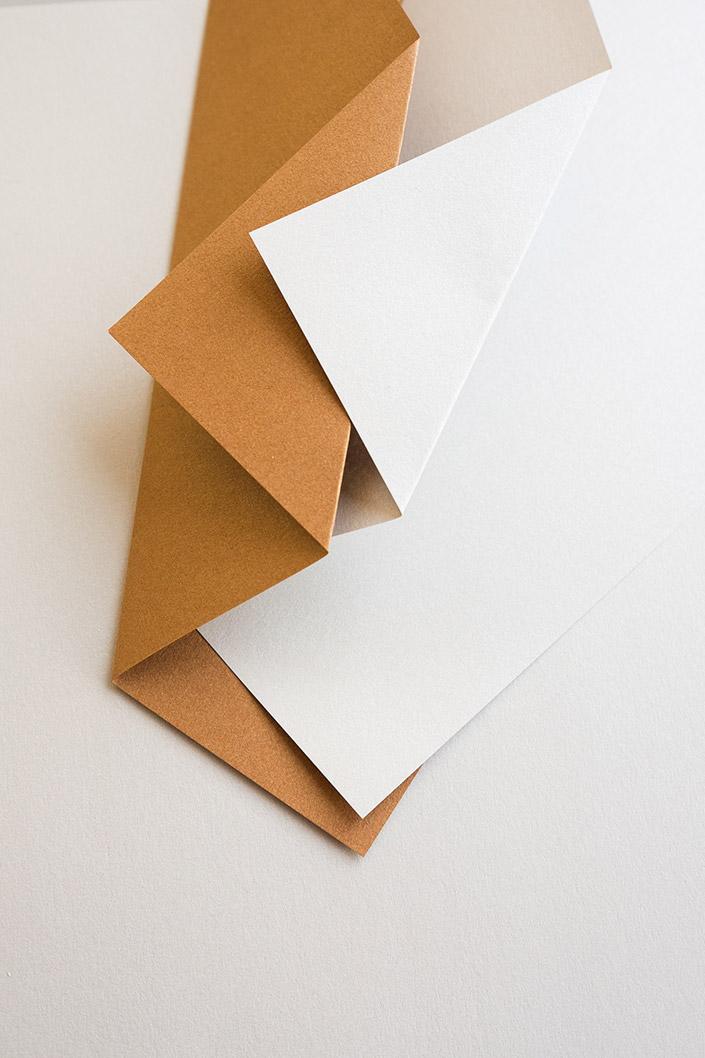 Papier Direkt Blog blog.papierdirekt.de /// Metallics gebürstet /// Cognac kombiniert mit Antimon