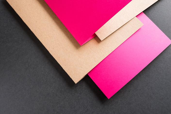 Kraftpapier Klappkarten - 100 % recycled