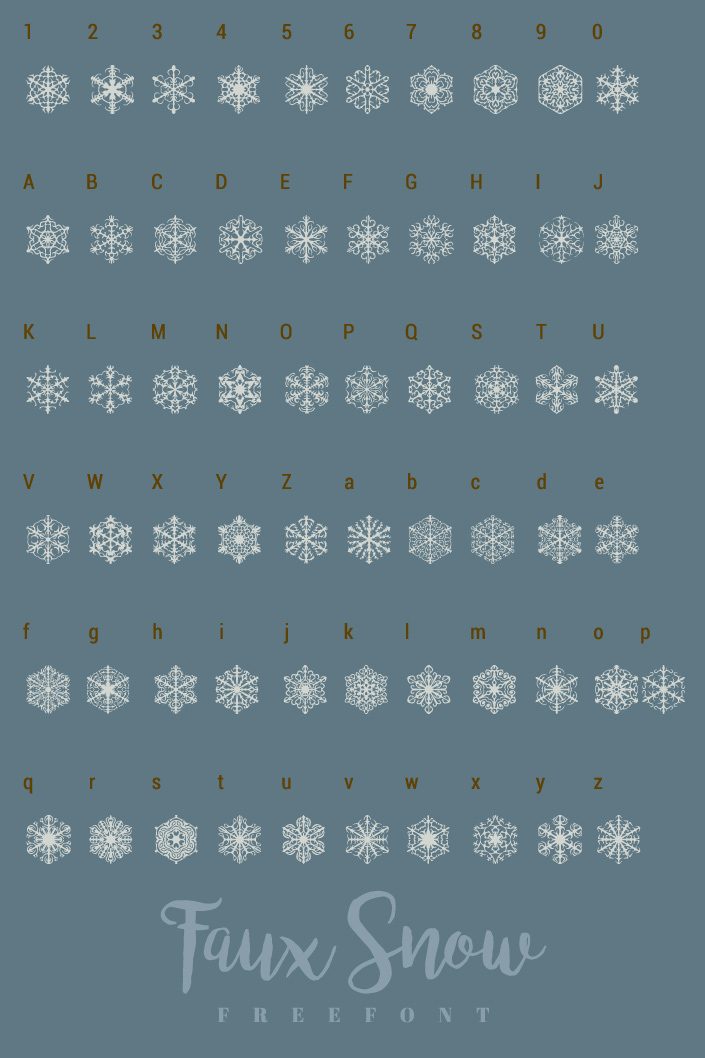 Wir stellen die Freefonts Journal Dingbats 4 und Faux Snow vor, die tolle Weihnachts Dingbats liefern. #FreeFontFreitag im Papier Direkt Blog.