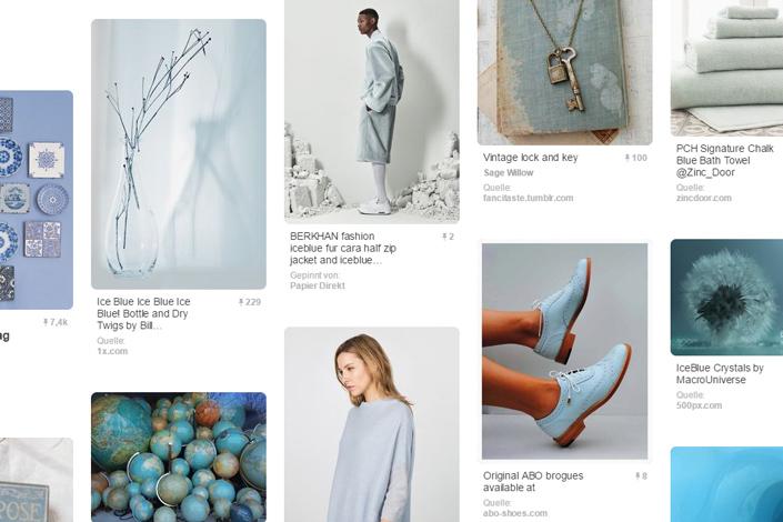 Neu im Papier Direkt Blog! Wir stellen unsere Farbe des Monats und dazu passende Produkte aus Papier vor. Den Anfang macht unsere Januarfarbe Hellblau.