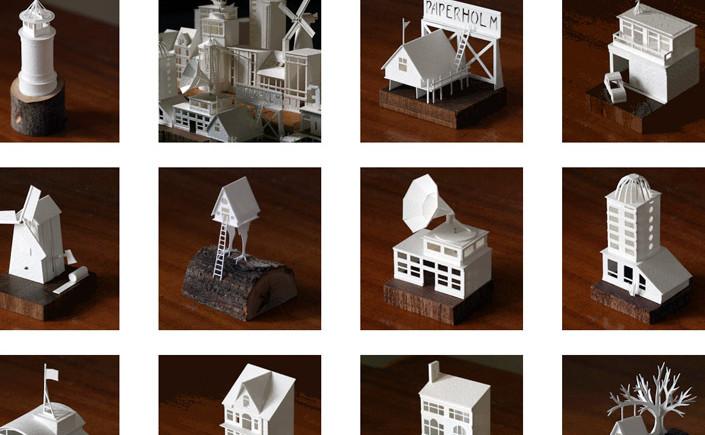 Charles Young baut jeden Tag ein kleines Gebäude aus Aquarellpapier und Bastelleim. Tauchen Sie mit uns ein in die Papierwelt Paperholm von Charles Young.