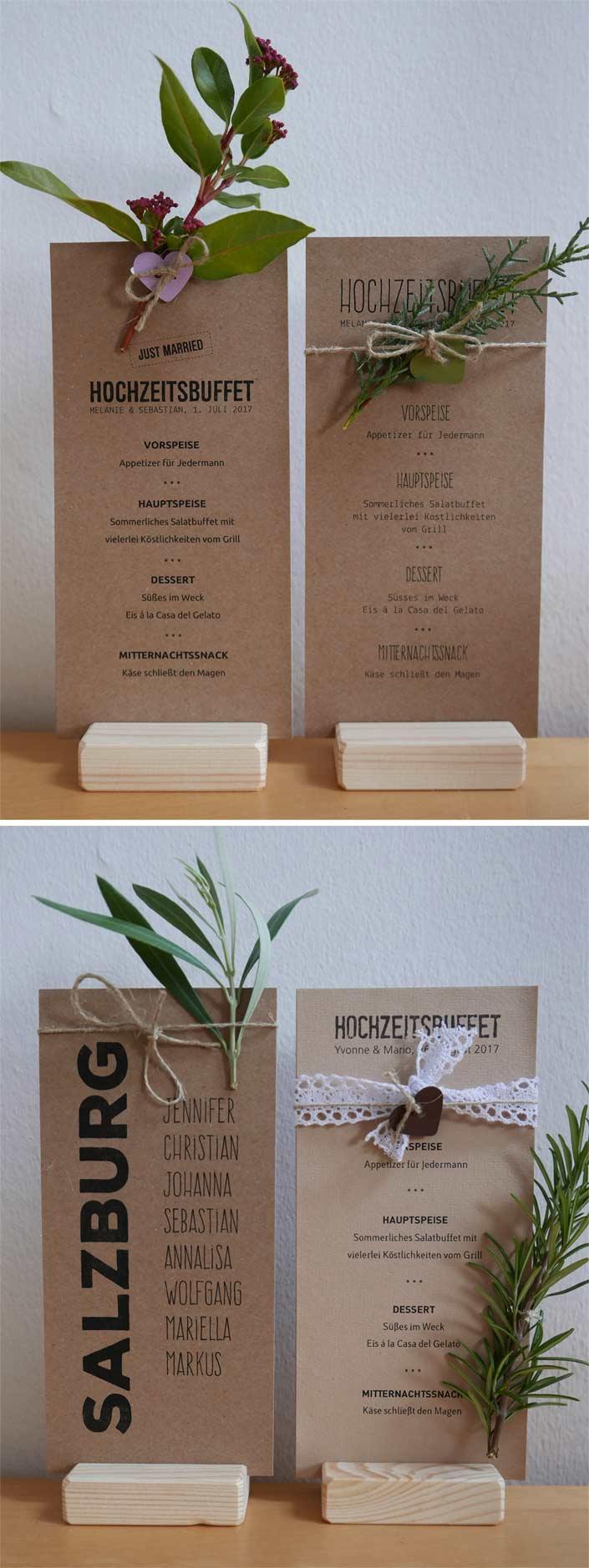 Papierdirekt-Aylando-Menükarte-Kraftpapier-HEAVN-mit-Blumen