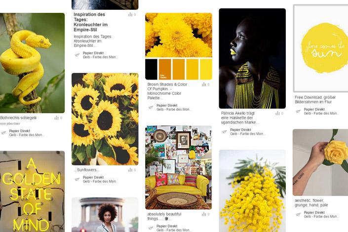 """""""Sun is shining, the weather is sweet"""". Wir halten es mit Bob Marley und stellen Ihnen im Papier Direkt Blog Gelb vor, unsere Farbe des Monats Juni."""