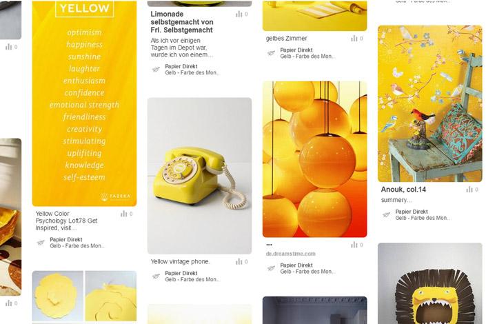 farbe des monats juni gelb papier direkt blog. Black Bedroom Furniture Sets. Home Design Ideas