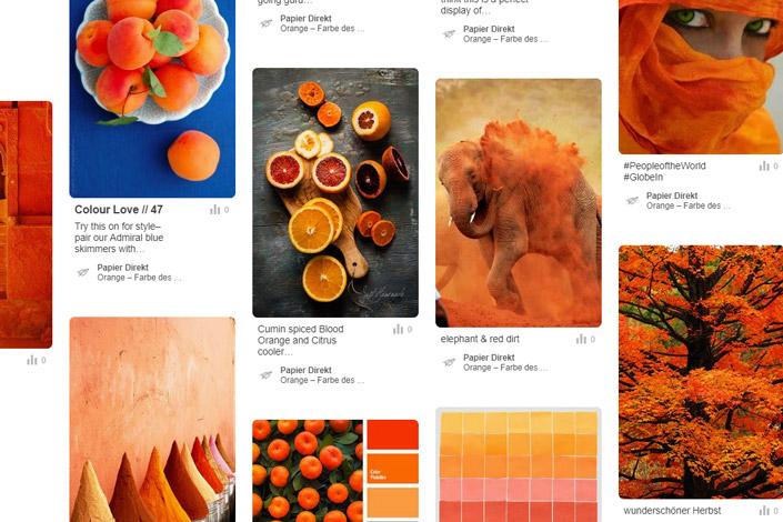 Orange ist die Farbe des Monats August. Im Papier Direkt Blog zeigen wir, wie Orange im Design angewandt wird und welche Papiere Sie dafür nutzen können.