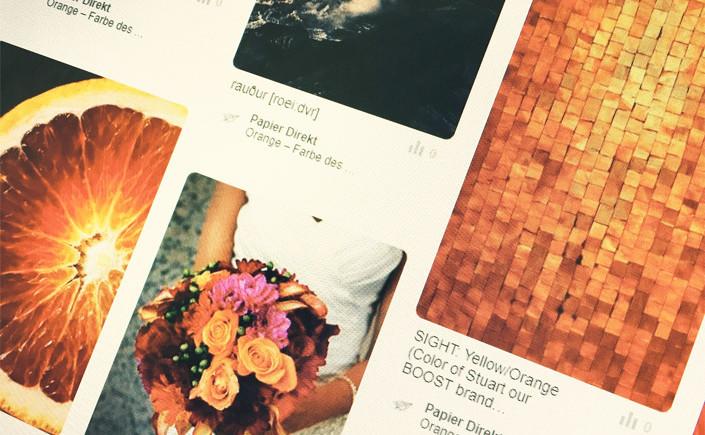 Farbe des Monats August – Orange – im Blog vorgestellt