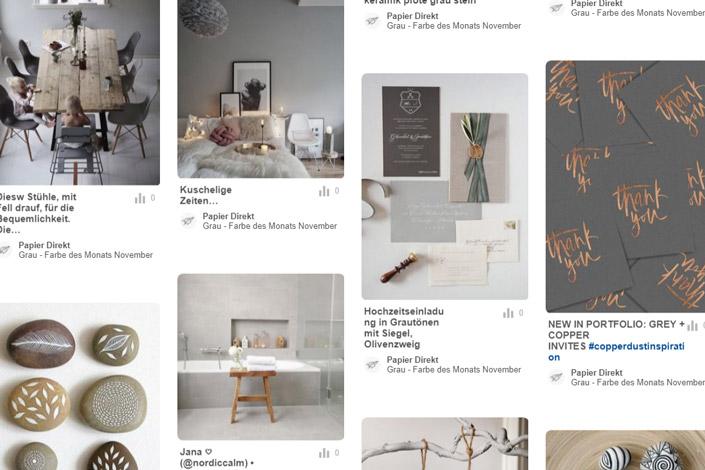 grau farbe des monats november papier direkt. Black Bedroom Furniture Sets. Home Design Ideas
