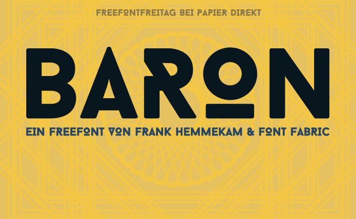 Ihre Silvesterparty verspricht Glanz und Glitzer? Mit Baron haben wir die richtige Schrift für Sie. Hier im Blog stellen wir den Font detailliert vor.