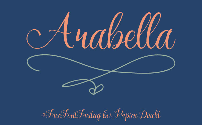 Fürs Design von Hochzeitspapeterie braucht es Talent und das richtige Werkzeug. Wir zeigen Ihnen den Freefont Arabella, unsere Schrift am #FreeFontFreitag im Februar.