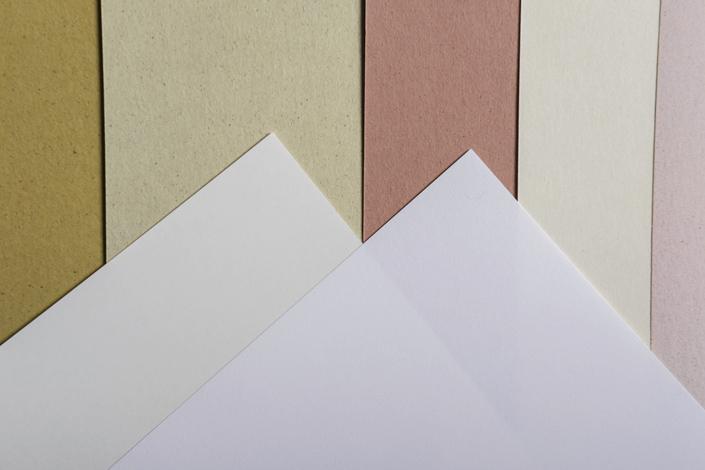 Crush Papier in Kombination mit dem Papier Conqueror