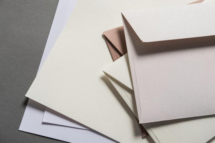 DIN lang Umschläge aus nachhaltigem Feinpapier Crush