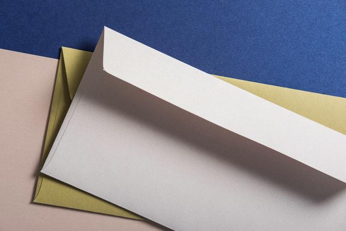Crush Kuverts Grape und Olive mit Metallicpapier