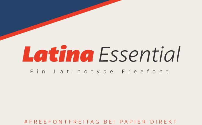 Freuen Sie sich auf die Schrift Latina Essential. Der Freefont bringt lateinamerikanischen Flair, nicht nur für die Gestaltung Ihrer Geschäftsausstattung.