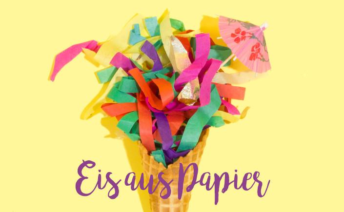 Weil Eis toll ist und uns allen in einem heißen Sommer Freude schenkt, zeigen wir Ihnen kreative Selbermachprojekte, die Eis aus Papier machen.