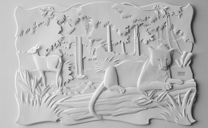 Schneiden, streichen, falten – das sind die Handgriffe, mit denen Carlos Meira Papier in plastische Kunstwerke verwandelt. Wir zeigen Ihnen seine Papercuts im Papier Direkt Blog.