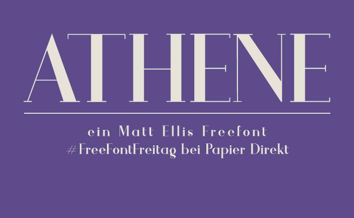 Wir stellen Ihnen heute am #FreeFontFreitag Athene vor, eine Schrift mit der klassischen Schönheit und dem Charakter einer griechischen Göttin.