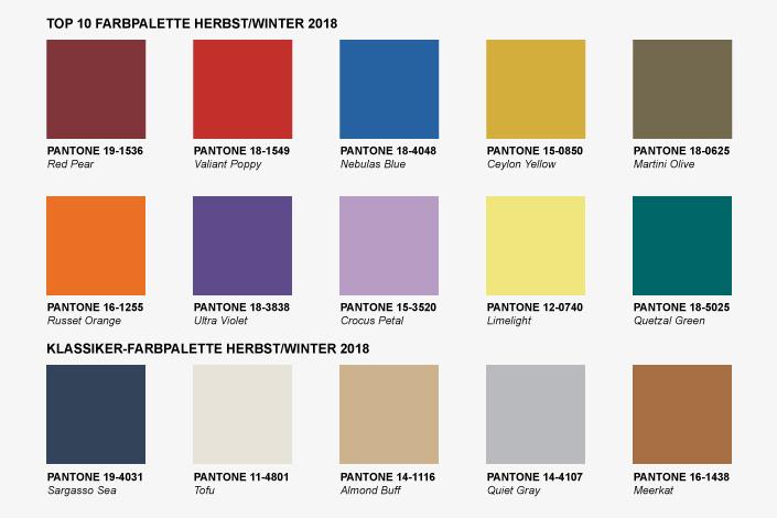Wir haben uns die Pantone Trendfarben für Herbst + Winter angeschaut und zeigen Ihnen, an welchen Farben Sie in diesem Herbst und Winter nicht vorbeikommen.