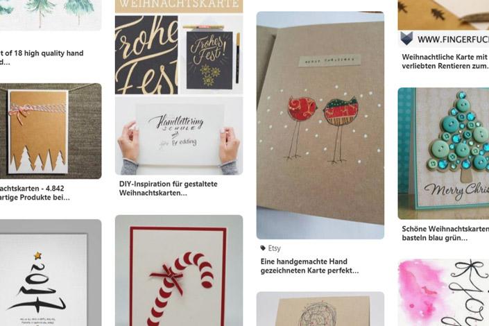 Kreative Weihnachtskarten selber machen – 12 x Print