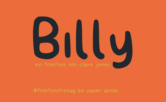Sie haben für ein junges Publikum gestaltet, wollen aber gerne auf den Einsatz der Schrift Comic Sans verzichten? Lernen Sie die Alternative kennen:Billy!