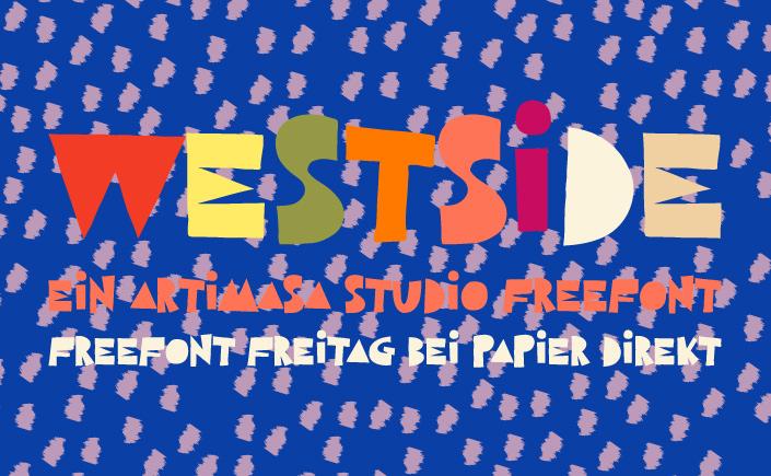 West Side ist eine handgemachte Displayschrift, die Sie zu neuen Designs inspiriert. Wir stellen die Schrift am #FreeFontFreitag im Februar vor.
