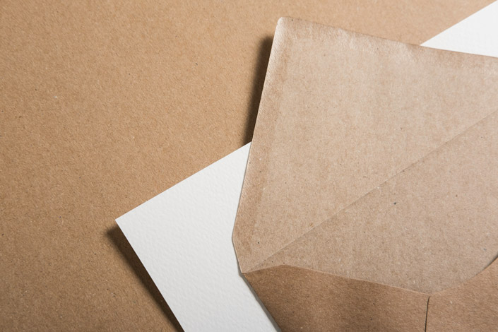 Muskat Kraftpapier Briefumschläge - 100 % Recycled