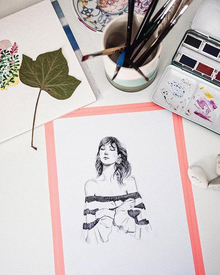 Wir sind schockverliebt in die Illustrationen von @gebelwho und haben Nicole Gebel zum #recommondation Interview in den Papier Direkt Blog eingeladen.