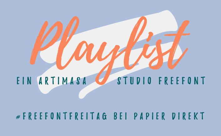 Der Zauber eines Brushfonts liegt in seiner unperfekten Ästhetik. Perfekt unperfekt ist auch Playlist, unsere Lieblingsschrift am #FreeFontFreitag im Juli.
