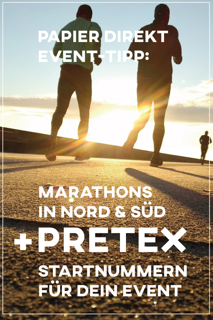Jetzt wird's #sportlich! In unserem heutigen Event-Tipp schicken wir Euch auf die Langstrecke. Zwei ausgewählte #Marathonläufe in Nord- und Süd-Deutschland versprechen für #Läufer und Zuschauer die beste Stimmung. Die Läufe wollen wir Euch ebenso empfehlen wie die #Pretex #Startnummern für Euer eigenes #Sportevent.