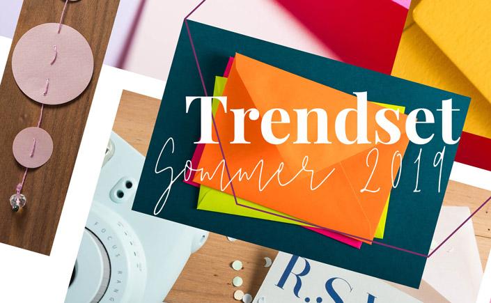Am 06. Juli ist die Trendset Sommer 2019 gestartet. Zu den Trendwelten der Trendset präsentieren wir Euch hier Hüllen und Papiere in den passenden Farben.