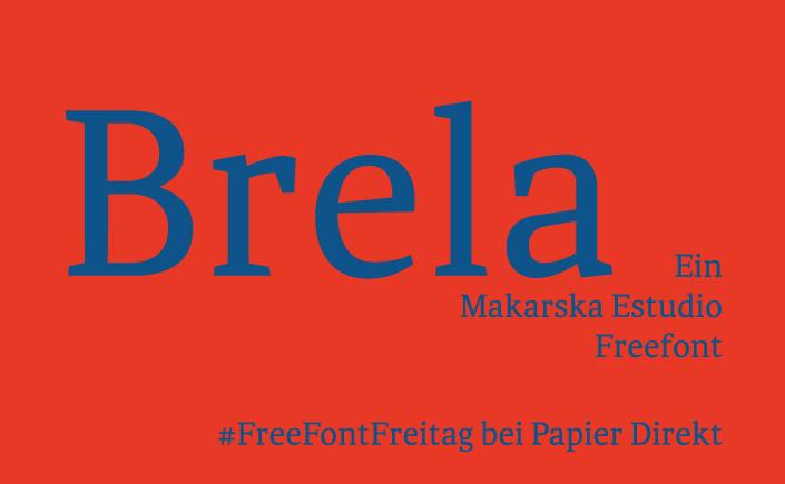 Brela ist eine Serifenschrift von Makarska Estudio. Wie der Freefont zu seinem Namen kommt und was die Schrift ausmacht, lest Ihr beim #FreeFontFreitag.