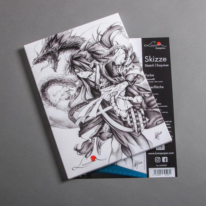 Im Interview mit der deutschen Mangakünstlerin Nashi sprechen wir heute über das Luma Skizzenpapier und den Drachen auf dem Cover.