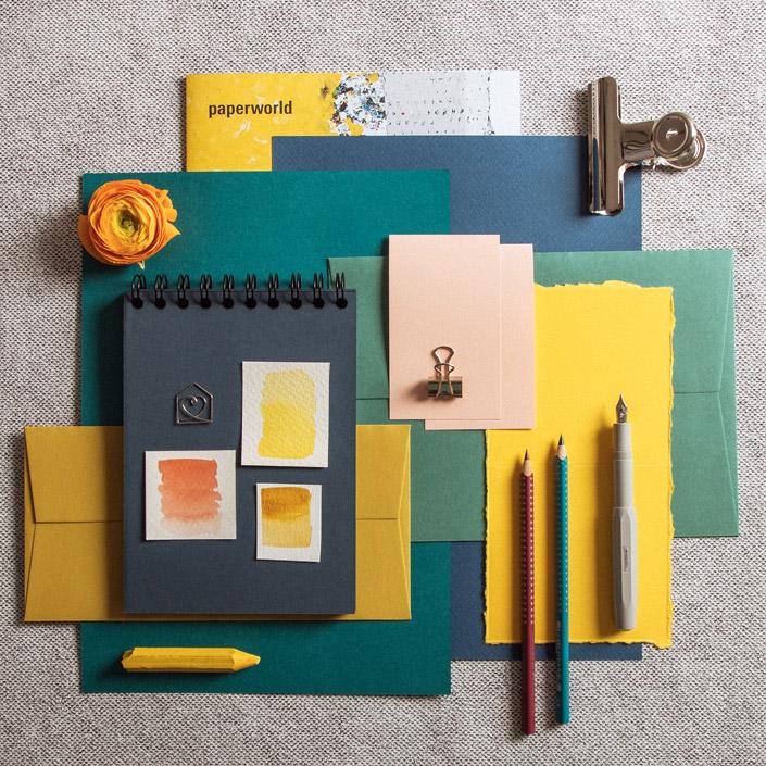 Papier Trends 2020: Colour Blocking in der Designwelt Blazing Hotchpotch der Paperworld 2020