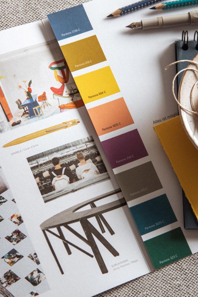 Farbpalette 2020 für Papiere, Office und Life Style Trends