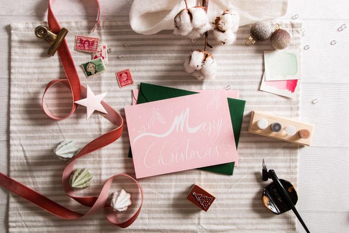 Weihnachtskarte zum Tag der Weihnachtskarte