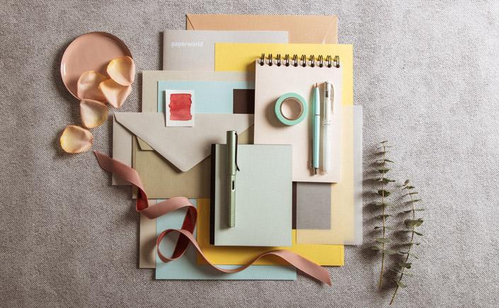 Farbtrends 2020 für Papiere, Office und Livestyle: leichte Pastelltöne