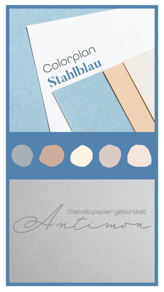 Inspirationen mit Papieren zu Classic Blue: Colorplan New Blue