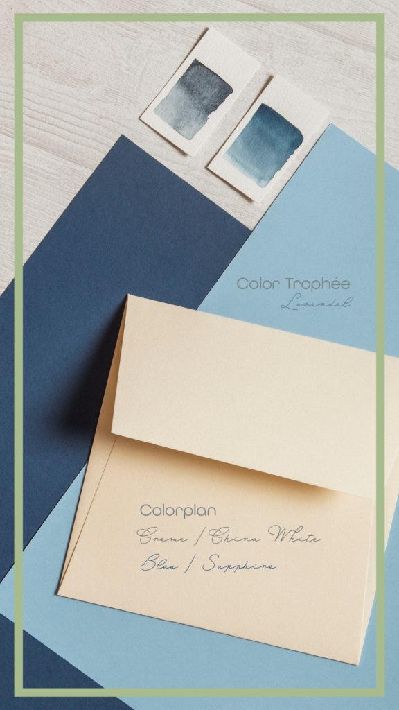 Inspirationen mit Papieren zu Classic Blue: Colorplan Blau