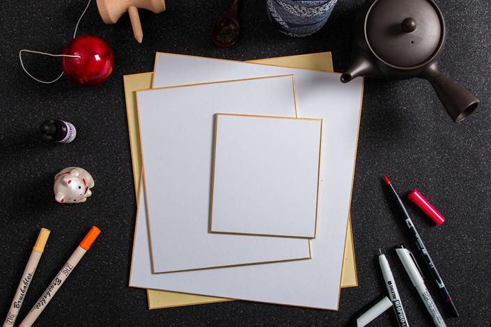 Ihr sucht einen besonderen Malkarton für Eure Aquarelle, Brushletterings und Markerzeichnungen? Brandneu bei Papier Direkt und direkt aus Japan: Shikishi!