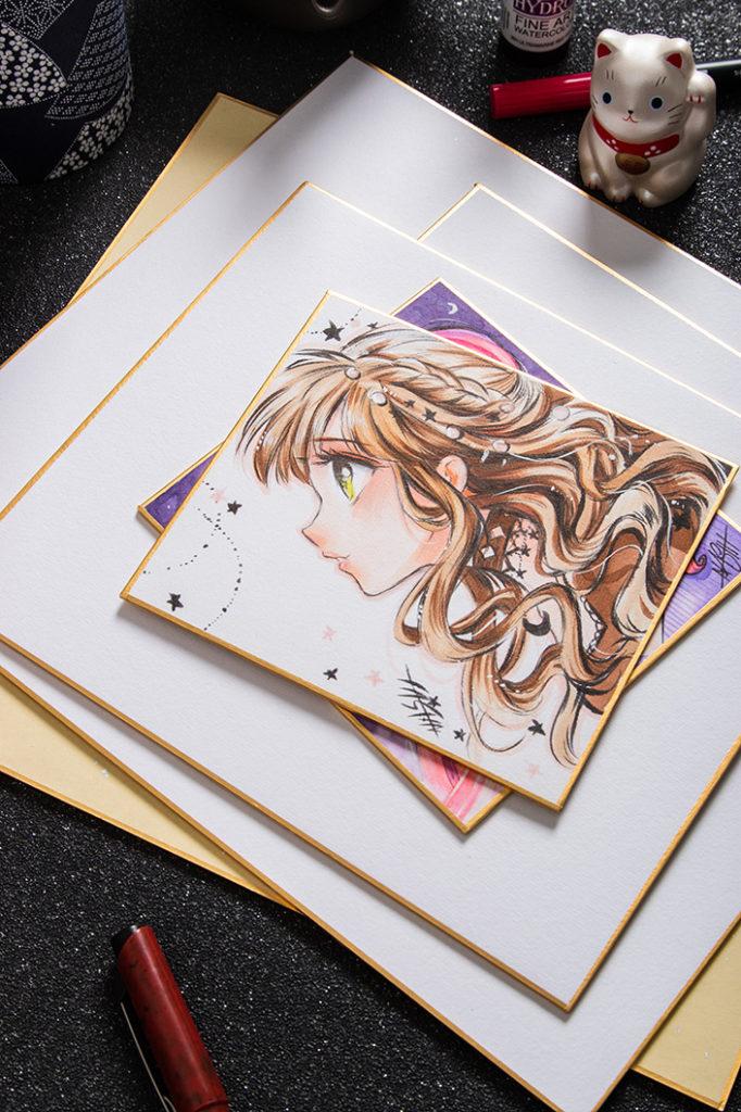 Neben traditioneller japanischer Kalligrafie und Mangakunst eigenen sich Shikishi auch für andere kreative Zwecke. Im Papier direkt Blog zeigen wir die Möglichkeiten auf!