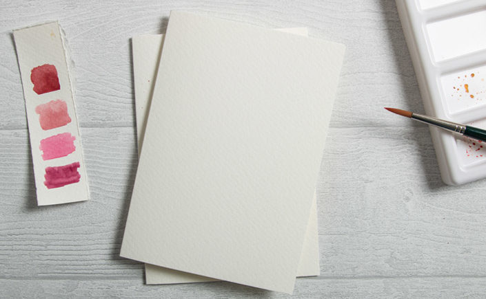 Aquarellkarten Blanko zum Bemalen mit Aquarellfarben
