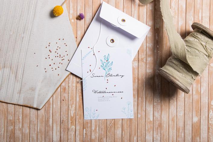 Ein Samentütchen im C6 Umschlag als Präsent? Klar! Wir zeugen Euch außerdem 4 weitere kreative Ideen für den Einsatz der Umschläge mit Bindfadenverschluss.