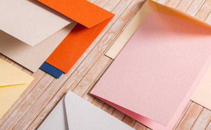 Briefumschläge-Klappkarten-Auswahl