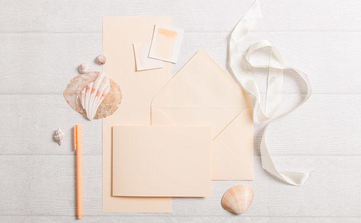 Blanko Klappkarten und Briefumschläge Vanilla für Lettering
