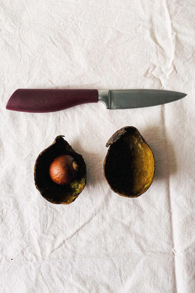 DIY Rezept: Rohstoffe um Avocado Tinte selbst herzustellen - Step 2