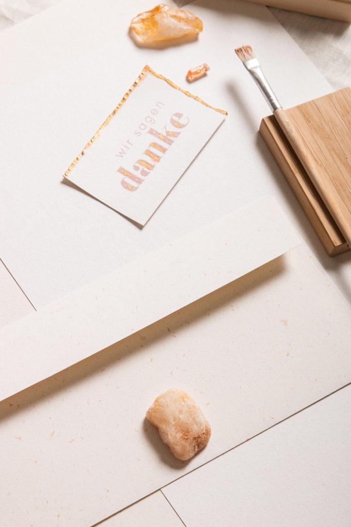 DIN lang Briefumschlag aus Countryside Mistral Sunshine kombiniert mit Crush Corn
